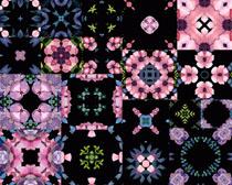 水彩绘画花朵背景拍摄高清图片