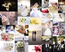 浪漫爱情婚礼男女摄影高清图片