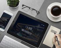 平板手机咖啡办公PSD素材