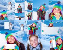 滑雪服饰美女摄影高清图片