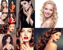 卷发时尚欧美女人写真摄影高清图片