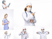 白衣天使护士摄影高清图片
