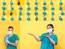 戴口罩的医疗人员摄影高清图片