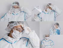 防护服医疗人员摄影高清图片