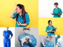 实习年轻医生摄影高清图片