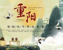 中国重阳敬老海报PSD素材
