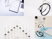 听诊器医疗用具摄影高清图片