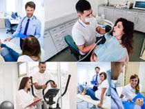 职业牙科医生摄影高清图片