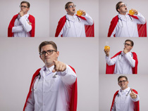 超人医生职业人物摄影高清图片