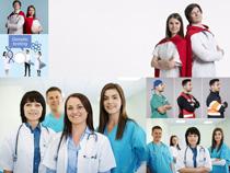国外职业医生团队摄影高清图片