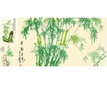 矢量竹石图