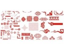 中国古典精品花纹矢量素材