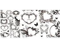 花纹心型矢量素材