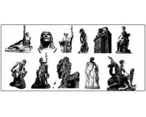 矢量雕像素材
