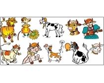 16款卡通母牛矢量素材