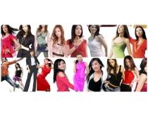 數十美女明星psd分層素材
