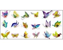 近200只漂亮的矢量蝴蝶素材