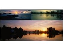 巨幅日出日落风景图片素材