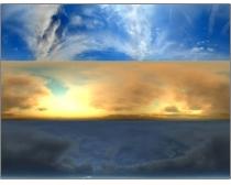 巨幅天空氣象變化圖片素材