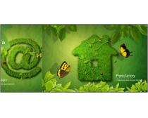 2款绿色系网络psd分层素材