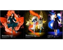 韓國時尚美女psd分層素材第3套