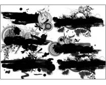 10款漂亮的墨迹花纹笔刷
