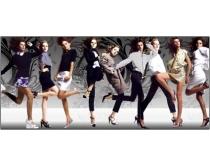 歐美時尚女性人物psd分層素材