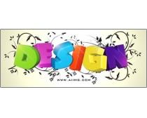 design立体字体psd分层素材