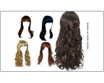 淑女发型设计元素psd素材