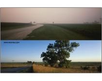 2张郊外乡村马路高清图片素材