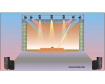 舞台搭建布置效果矢量素材