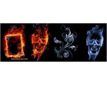 创意烟雾火焰设计高清图片素材