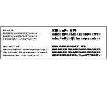 44款英文像素字体