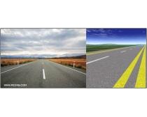 6张高清公路图片素材