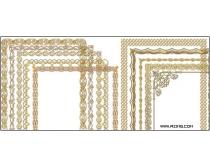 12张高清金色边框图片素材