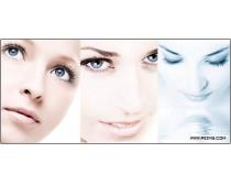 5张高清国外广告美女脸部特写图片素材