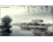 烟雨江南风景图片素材