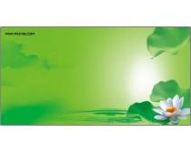 绿色环保背景psd分层素材