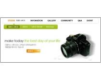 韩国摄影器材类网页模板