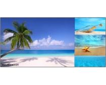 18张高清夏日海边沙滩风景图片素材