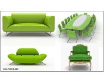 4张高清绿色家具图片素材