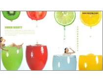 果汁设计元素psd分层素材