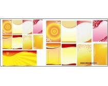 金色底纹展板矢量素材