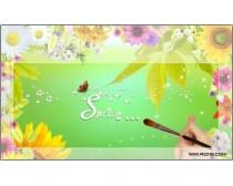 春暖花开背景图片素材
