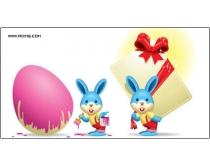 两款可爱的小兔子矢量素材