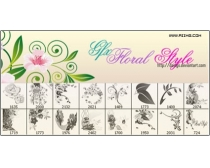 ���Ʊ�ˢ-floral style Brushes