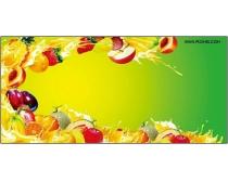 一条水果波浪psd分层素材