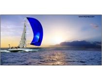 大海航行风景图片素材