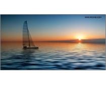 5张高清扬帆海船图片