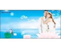 荷花主题婚纱模板免费下载